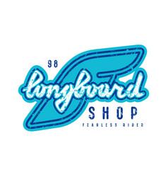 emblem longboard shop vector image