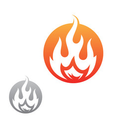 fire flame inside round vector image