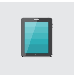 Flat Computer Tablet Concept vector image