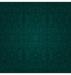 Floral seamless pattern on a green backgrond vector