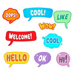for online communication vector image