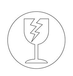 Fragile icon vector