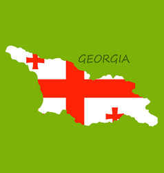 Georgia map with flag vector