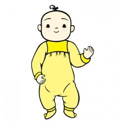 happy baby vector image
