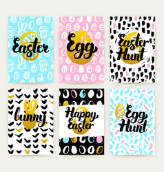happy easter trendy posters vector image