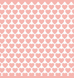 happy valentines day pink hearts decoration love vector image