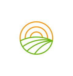 Hot farm logo icon design vector