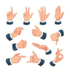 human hands gestures set vector image