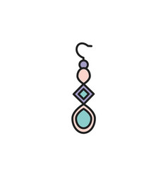 Isolated earring icon fill design vector