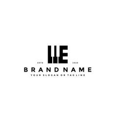 Letter e piano logo design vector