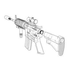 machine gun rendering 3d vector image