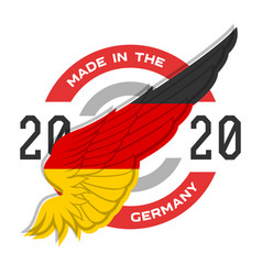 made in germany badge with usa flag elements vector image