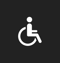Man in wheelchair icon handicapped invalid people vector