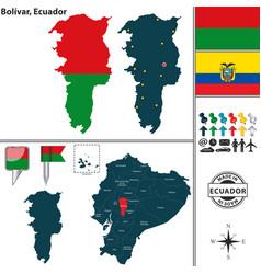 Map of bolivar ecuador vector