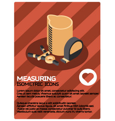 measuring color isometric poster vector image