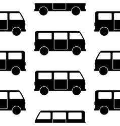 Minibus symbol seamless pattern vector image