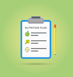nutrition plan medical diet flat icon design diet vector image