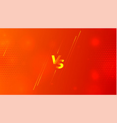 Orange versus vs screen banner design template vector
