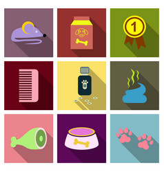 pet care supply accessories and products vector image