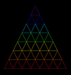 Rainbow triangle consisting of many small vector