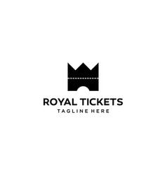 royal ticket logo design concept vector image