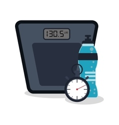 Scale and healthy lifestyle design vector