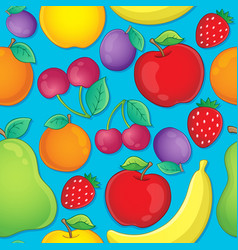 seamless background fruit theme 2 vector image