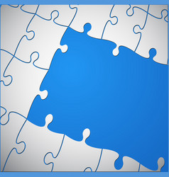 The blue background puzzle of jigsaw puzzle vector