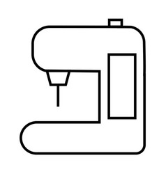 Thin line sewing machine icon vector