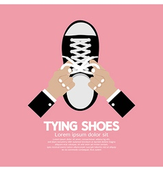 Tying Shoes vector