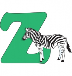 z is for zebra vector image
