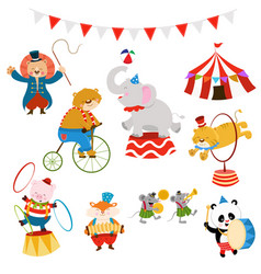 circus characters set vector image vector image