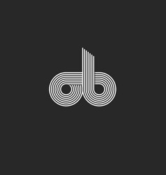 combination letters ob logo monogram for business vector image vector image