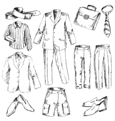 Set of business clothes for men vector image