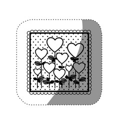 Symbol trees balloons form icon vector