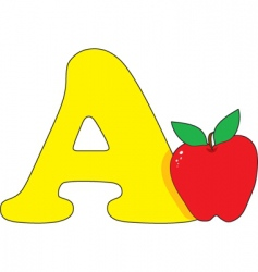 a is for apple vector image vector image