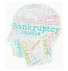 How Bankruptcy Assistants Work text background vector image vector image