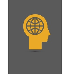 human head - Global technology vector image