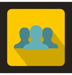 People icon flat style vector image