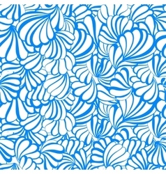 sea shell seamless pattern on a white vector image