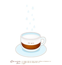 A Cup of Cafe con Leche on White Background vector image vector image