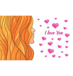 greeting card valentine s day vector image