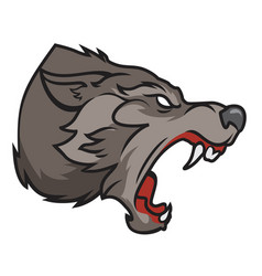 grinning wolf vector image