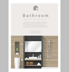 Interior design Modern bathroom banner 3 vector image