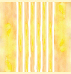 stripes painted watercolor yellow vector image vector image