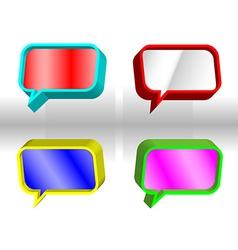 Colorful speech bubbles vector image