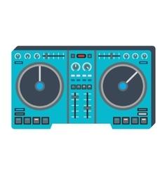 Dj music equipment icon vector image