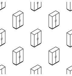 isometric wardrobe seamless pattern vector image