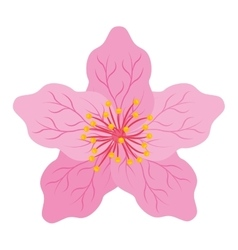 Japanese flower isolated icon design vector