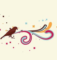 retro bird design vector image
